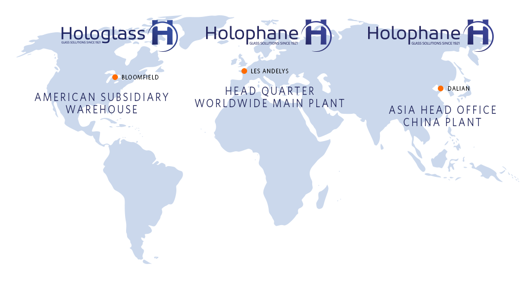 Implantation mondiale d'HOLOPHANE